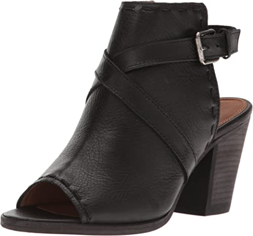 FRYE Wohommes Dani Pickstitch Shield Heeled Sandal, noir, 8 M US