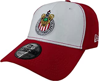 New Era 39Thirty Hat Chivas De Guadalajara Liga MX Soccer White/Red Flex Cap