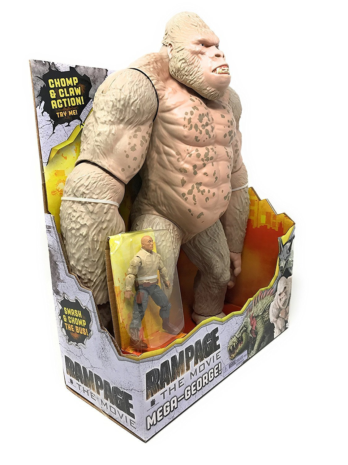 Rampage The Movie Mega George Figure Amazon Co Uk Toys Games
