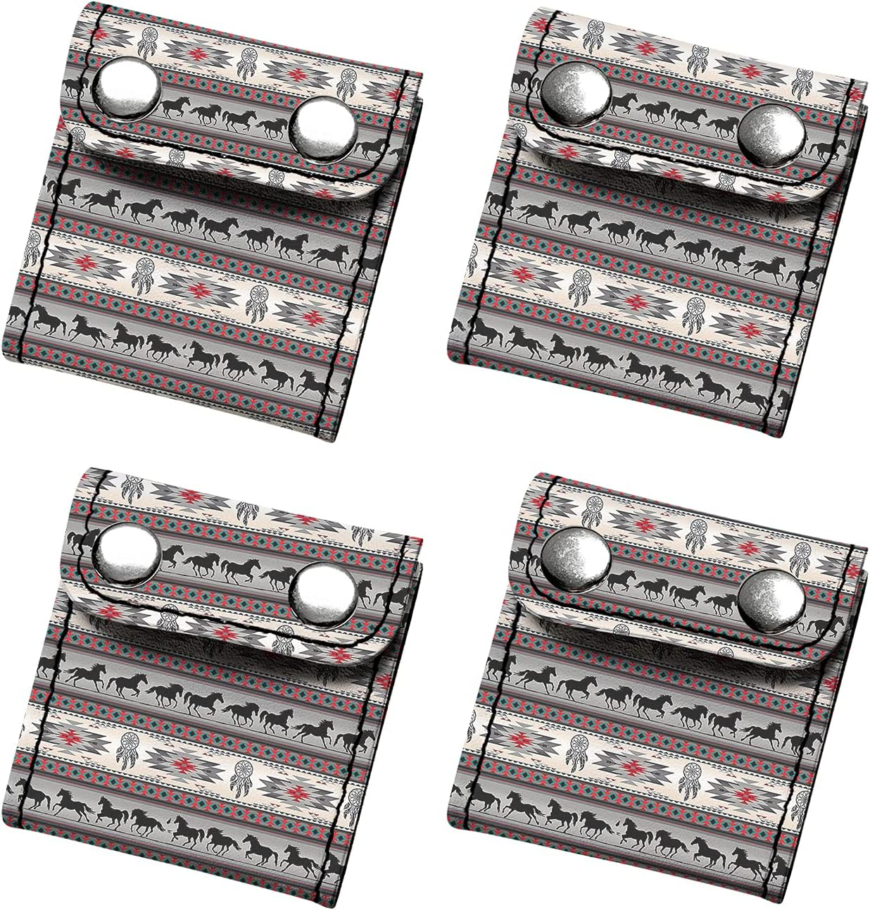 XYZCANDO Seat Belt Adjusters, Car Seat Belt Locking Clip Protector(Set of 4) Fit for Children, Adult Easy to Clean, Cool Aztec Print