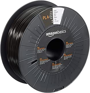 Amazon Basics Filament PLA pour imprimante 3D, 1,75mm, Noir, Bobine, 1kg