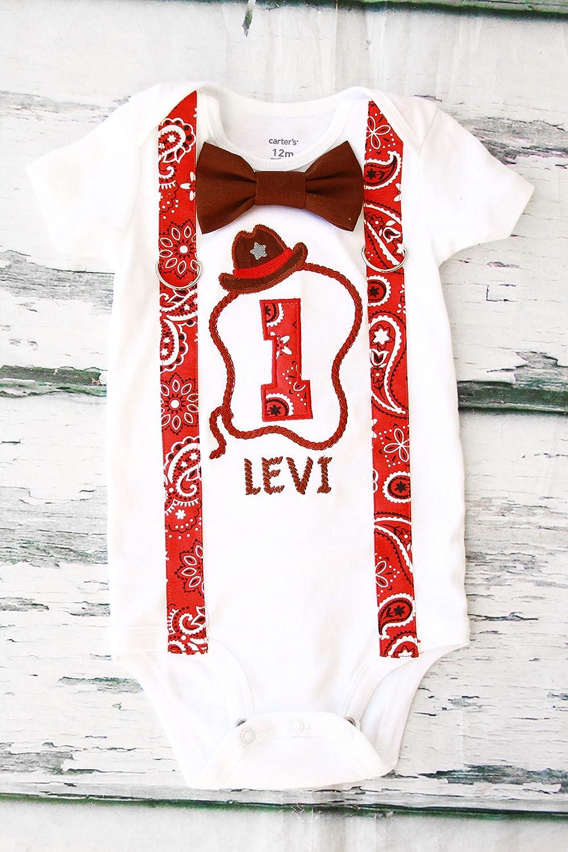 Boy first birthday red bandana boy baby western Ranking TOP12 Western Cheap sale