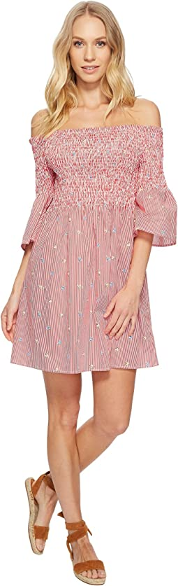 J.O.A. - Smocked Off the Shoulder Dress with Bell Sleeves