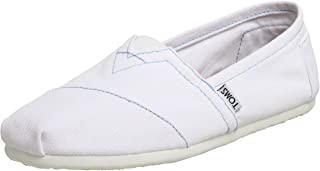 Men's Classic Canvas Slip-On, White - 10 D(M) US