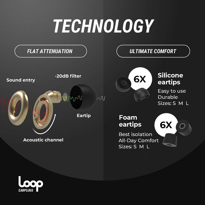 Or Parfait pour le Travail Embouts R/éutilisables en Silicone et en Mousse la Moto Loop le Sommeil les R/évisions R/éduction Globale du Bruit de 20dB Bouchons d/'Oreilles