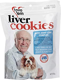 Love 'Em Joint Care Liver Cookies 430g, Medium/Large, Adult/Senior, Dogs