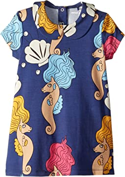 Seahorse Collar Short Sleeve Dress (Infant/Toddler/Little Kids/Big Kids)