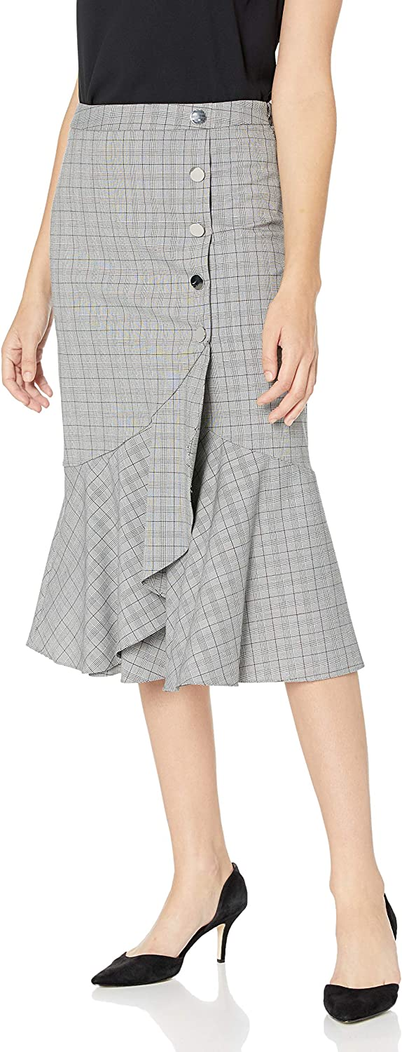 Calvin Klein Max 48% OFF Women's Flare Hem Skirt with outlet Buttons