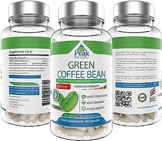 comprar comparacion Peak Naturals #1 El grano de café verde más fuerte para perder peso6000 mg de máxima potencia50% de ácido clorogénicoPierd...