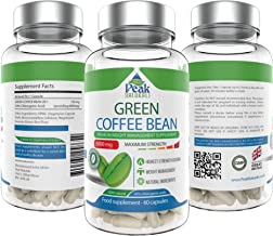 Strongest and Most Effective Green Coffee Bean for Weight Loss 6000mg Vegan Friendly Pure Green Coffee Bean Extract with GCA 50 Chlorogenic Acid Lose Weight Fast Made in The UK Estimated Price : £ 14,99