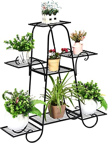 popular Giantex 7 Tiers Metal Plant Stand, Flower Pots Holder for Indoors new arrival and Outdoors, Plant popular Display Rack Flower Shelf for Patio Garden Balcony Home, Plant Holder with 7 Tier Shelves sale
