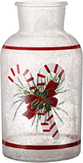 V-More Hand-Painted Christmas Design Glass Bottle with LED String Lights 8.07