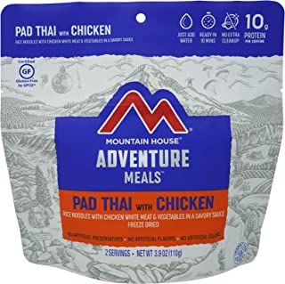 Mountain House Pad Thai with Chicken | Freeze Dried Backpacking & Camping Food | Survival & Emergency Food | Gluten-Free