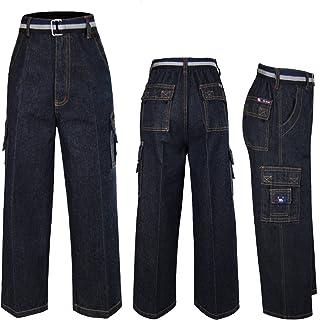 Unotux Baby Boys Toddler Teen Denim 8 Pockets Jeans Pants Bottom Belt 6-14 Yrs