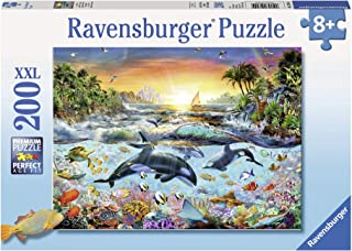 Ravensburger - Orca Paradise - 200 Piece Jigsaw Puzzle for Kids – Every Piece is Unique, Pieces Fit Together Perfectly