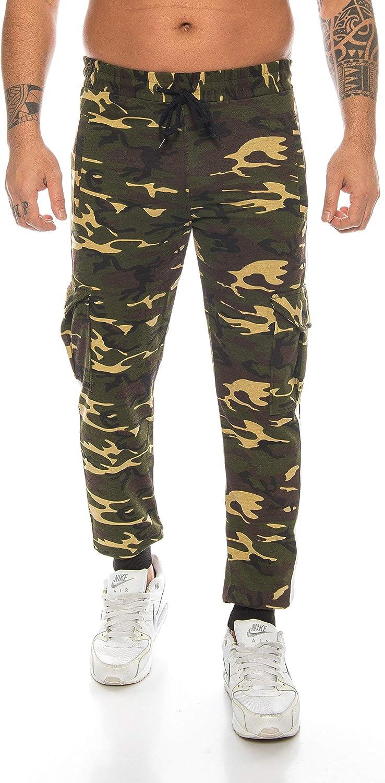 color negro Raff/&Taff Cannabis Pantalones de deporte para hombre dise/ño de camuflaje talla XXL