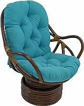 Blazing Needles Solid Twill Swivel Rocker Chair Cushion, 48
