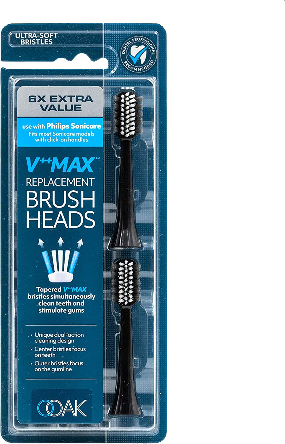 Ooak V++Max Replacement Brush Head Philips 6 New Fashion products world's highest quality popular Sonicare with Use