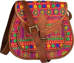 Leather Purse Boho Colorful Crossbody Satchel Shoulder Bag Vintage Travel Everyday Hippie