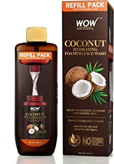 WOW Skin Science Coconut Hydrating Foaming Face Wash Refill Pack - with Coconut Water - For Cleansing, Soothing Skin - For...