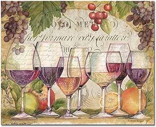 CounterArt 'Wine Country' Glass Cutting Board, 15 x 12