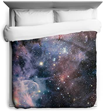 Sharp Shirter Carina Nebula Space Queen Duvet Cover Galaxy Bedding from Outer Space with Stars