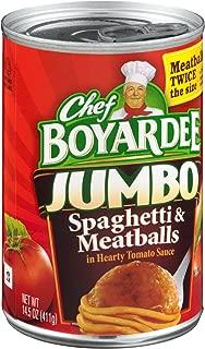 Chef Boyardee, Jumbo Spaghetti and Meatballs, 14.5-Ounce Can (Pack of 6)