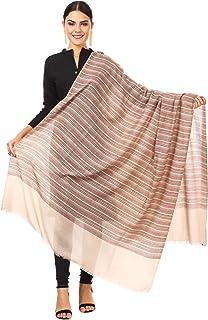 3bc01c53df Pashtush Women's Fine Pashmina Wool Striped Shawl, Blended Pashmina,  Australian Merino Wool, Soft