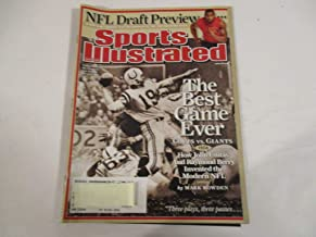 APRIL 28, 2008 SPORTS ILLUSTRATED FEATURING JOHNNY UNITAS OF THE BALTIMORE COLTS *THE BEST GAME EVER -COLTS VS. GIANTS (1958) *HOW JOHN UNITAS AND RAYMOND BERRY INVENTED THE MODERN NFL -BY MARK BOWDEN