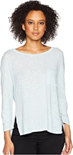 Three Dots Women's Eco Knit Loose High Low Pocket Tee