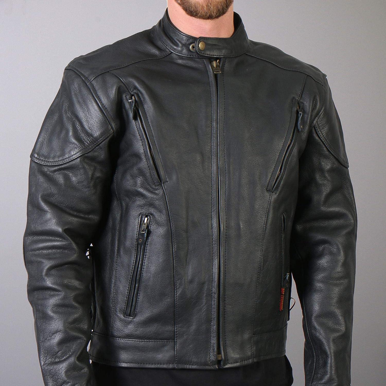 Hot Leathers Black Motorcycle Jacket