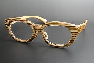 木製めがねフレーム ZE-904F(DOKUSOU TIKUHOU)【ルーツ】【鯖江産】【木のめがね】【ゼブラウッド】【図面竹】【銘木】【限定】