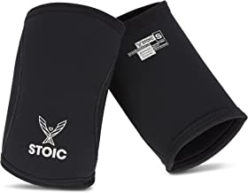 Best Stoic Elbow Sleeves for Powerlifting - 7mm + 5mm Thick Neoprene Sleeve for Bodybuilding, Weight Lifting Best for Squats, Cross Training, Strongman Professional Quality & Ultra Heavy Duty (Pair) Review