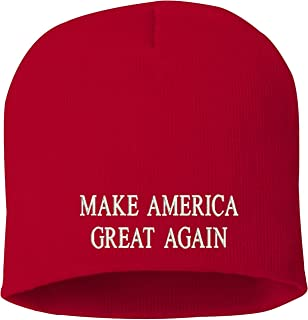 Make America Great Again Skull Knit Hat Red