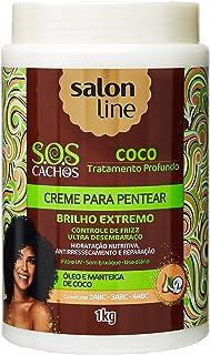 Salon Line Creme Para Pentear SOS Coco, Branco, 1000 g