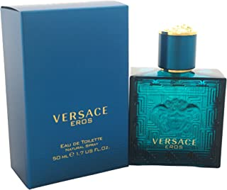 Versace Eros Eau de Toilette Spray for Men, 1.7 Ounce