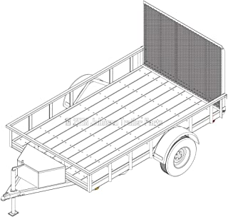 6′ x 10′ Utility Trailer Plans – 3,500 lb Capacity | Trailer Blueprints Model U72-120-35J