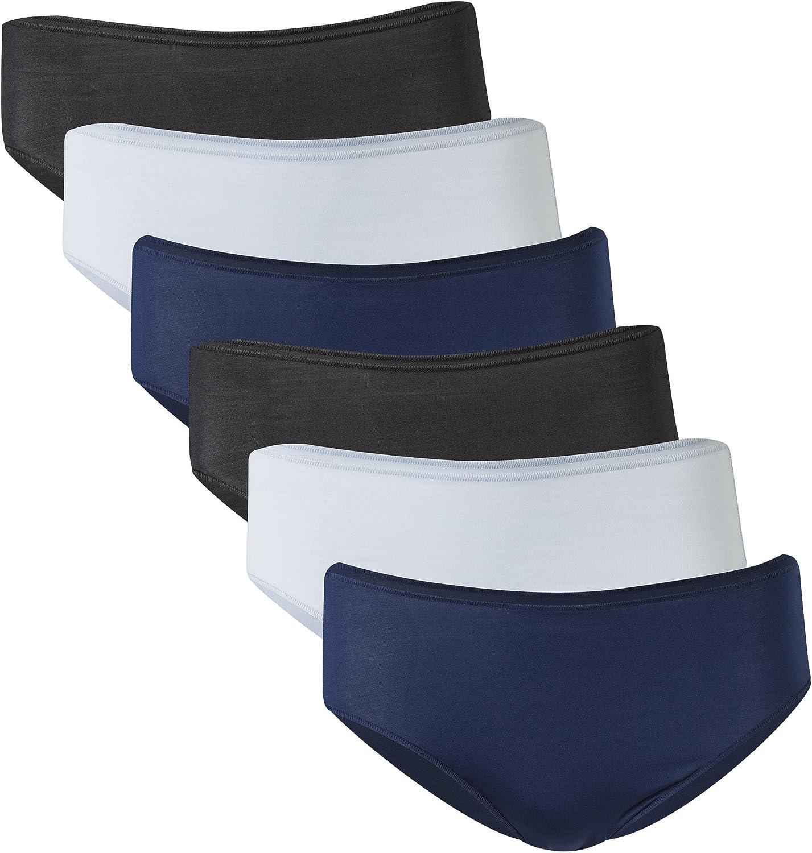 Gildan Women's Microfiber Hi Cut Panties, 6 Pairs