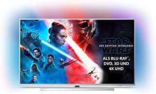 Philips Ambilight 43PUS7304/12 Fernseher 108 cm 43 Zoll Smart TV 4K, LED TV, HDR 10, Android TV, Google Assistant, Alexa kompatibel, Dolby Atmos Hellsilber Modelljahr 2019