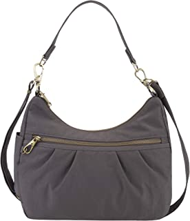 Travelon Women's Anti-Theft Signature Hobo Travel Shoulder Bag
