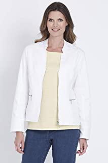 W.Lane Seam Detail Jacket White Solid 16 - Womens