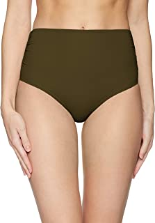affe88f6f0a Anne Cole Women's High Waist to Fold Over Shirred Bikini Bottom Swimsuit