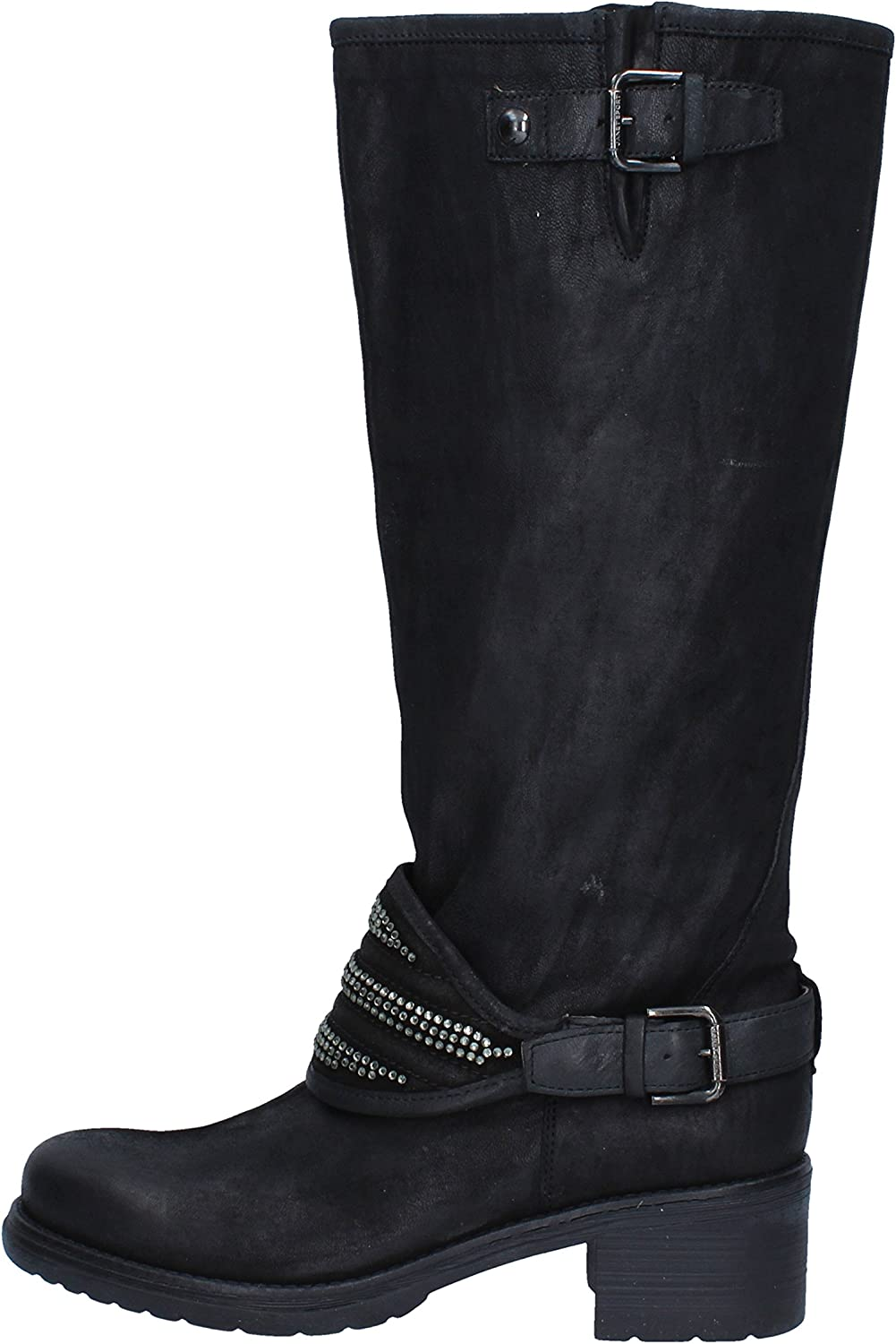 JANET SPORT Boots Womens Leather Black