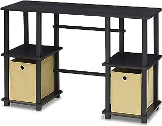 FURINNO Turn-N-Tube Computer Desk, Espresso