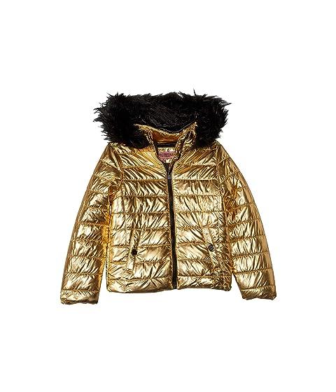 a1a5669fca73 Urban Republic Kids Lana Metallic Foil Puffer Jacket w  Colored Faux ...