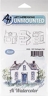 طوابع مطاطية لاصقة بألوان مائية WC4958 من Art Impressions