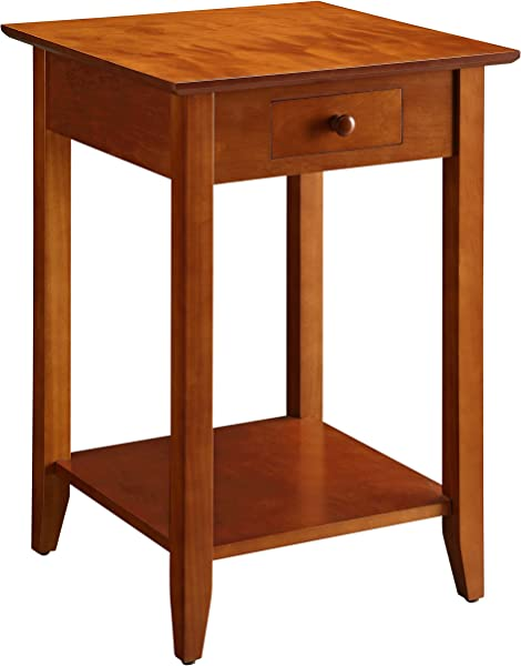 Convenience Concepts American Heritage End Table With Drawer And Shelf Cherry