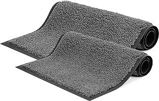 "MATALL Inside Entryway Door Mats - 2 Pack (29.5""x17""&35""x23.5"") Outdoor Entrance Rugs Absorbs Mud Doormat Washable Shoe Ma..."