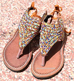 a523f0b141f8 WaistBeadsSandals Handmade Beaded Reef Sandy Womens Sandals