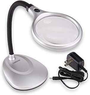 Carson DeskBrite200 LED Lighted 2x Magnifier and Desk Lamp for Hobby, Crafts, Inspection, Reading Books, Magazines, Newspa...
